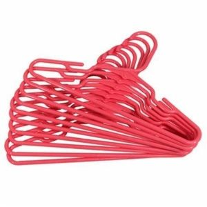 15 Pack of Pink Plastic Clothes Hangers OSFA
